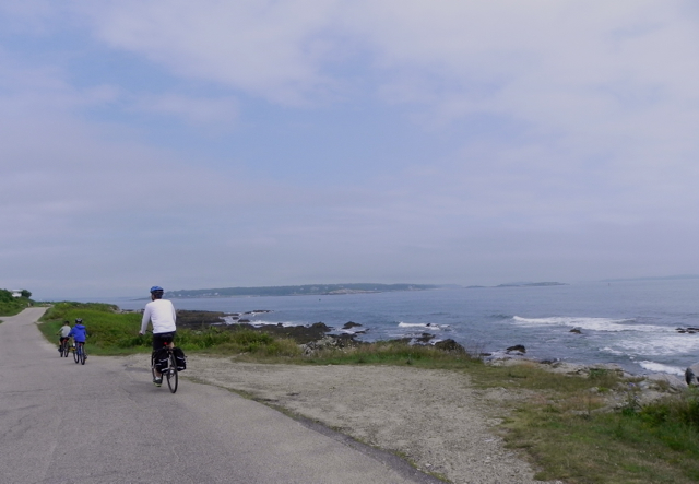 Biking on Peaks Island is the perfect kid-friendly activity in Portland, Maine