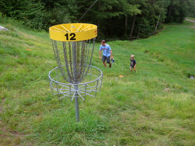 "It is a climb to some of the ""holes"" on the Sugarbush disc golf course."