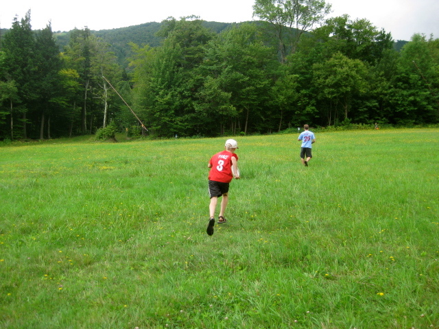 Not sure why Matt and Tommy felt like they had to run the Sugarbush disc golf course....