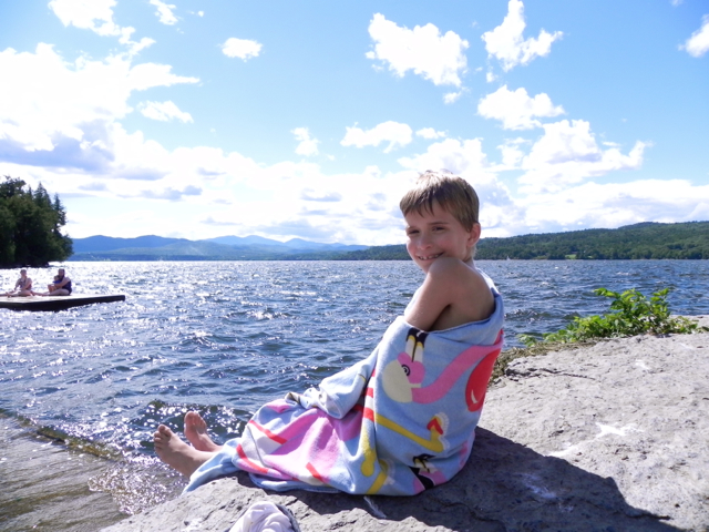 Relaxing at the Basin Harbor Club in Vermont