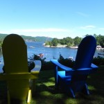 Adirondack chairs are a symbol of the Basin Harbor Club for good reason