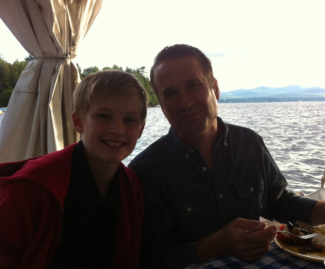 It was beautiful to dine lakeside at the Basin Harbor Club