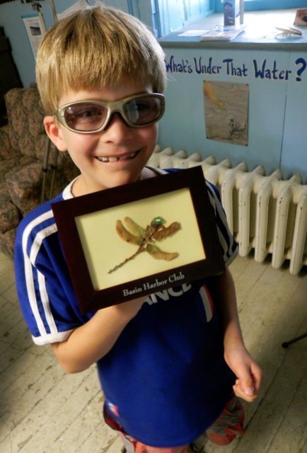 Teddy made our favorite souvenir using nature items we found