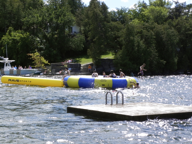 Water trampoline at the Basin Harbor Club