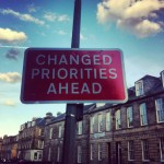 Edinburgh traffic sign