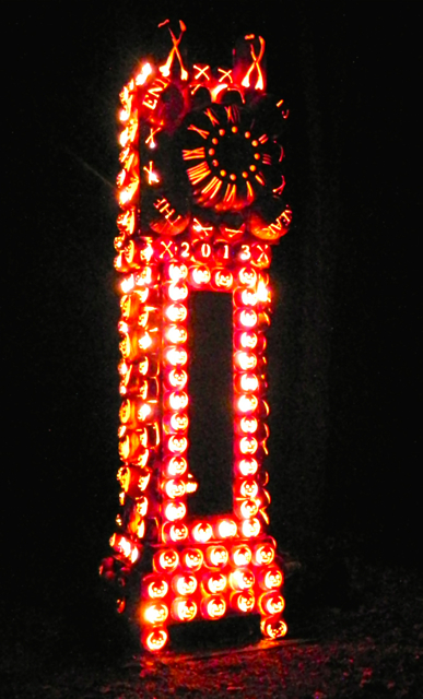 Great Jack O'Lantern Blaze Grandfather Clock