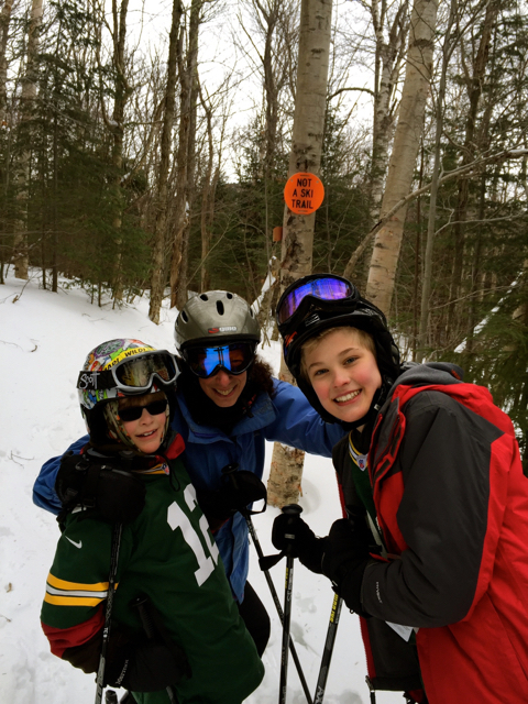 The family that skis together stays together - my stepmother hits the slopes with the boys when she's not busy running the Millbrook Inn