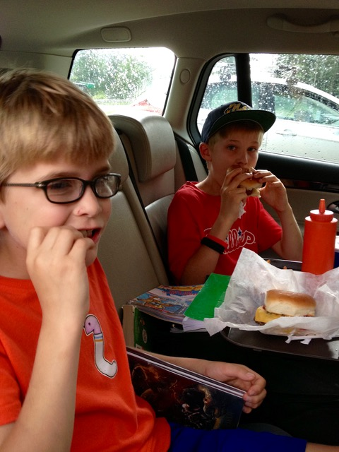 Family Road Trips Eating in the Car