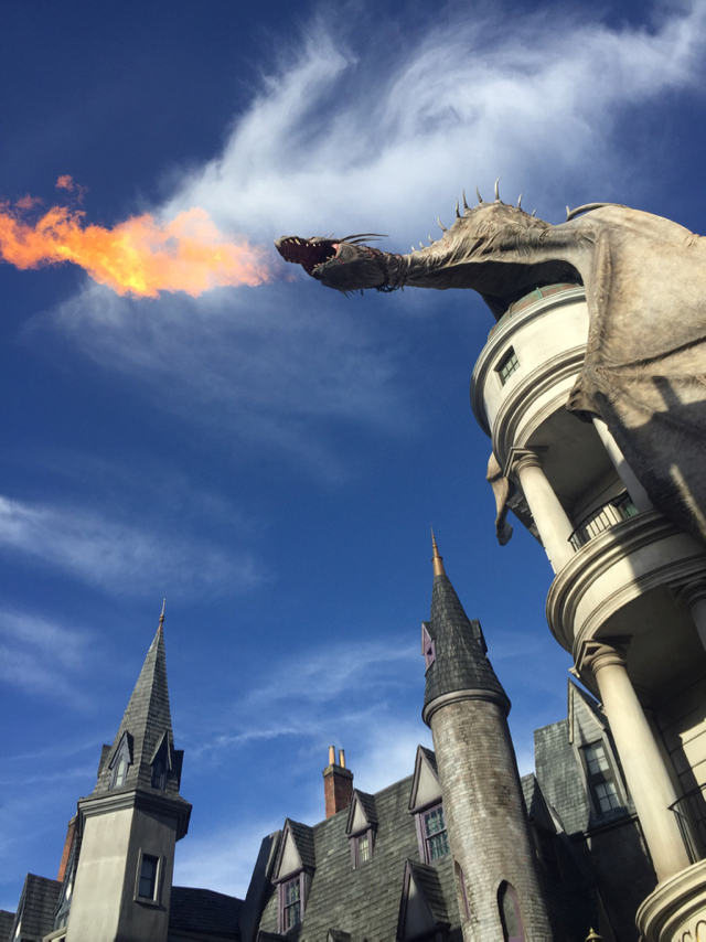 Fire Dragon Universal Orlando Diagon Alley