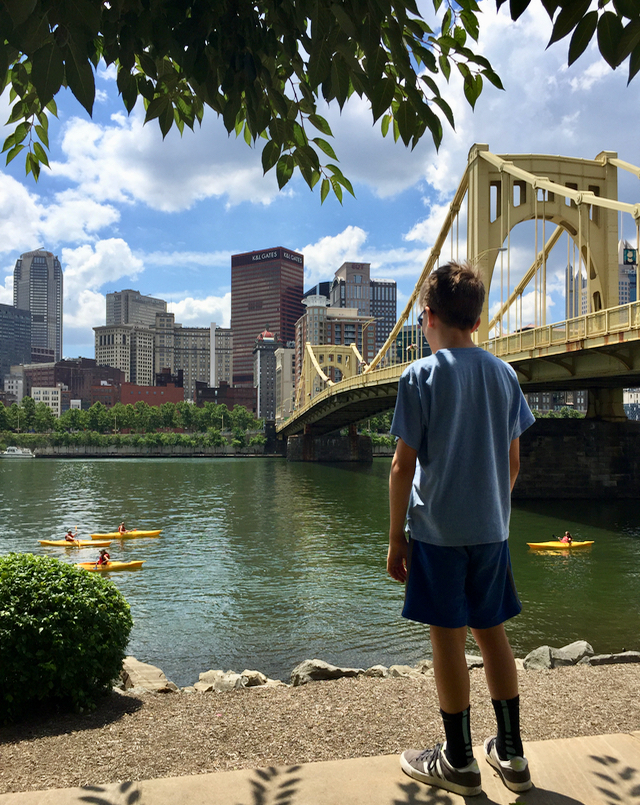 Allegheny River view Pittsburgh Bike the Burgh