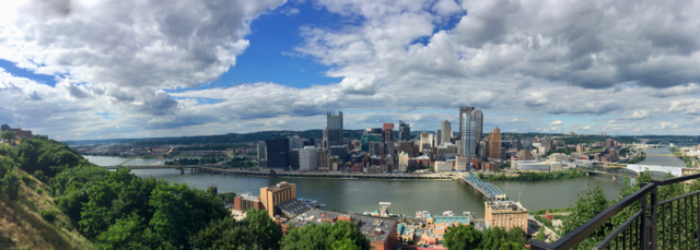 Pittsburgh downtown panorama